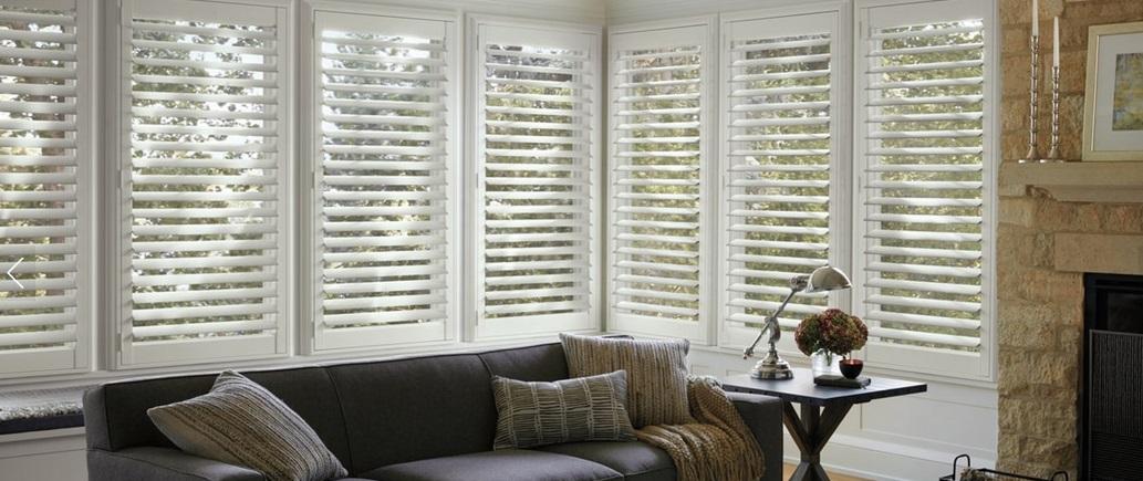 California vs plantation shutters designer 39 s guide - Hunter douglas interior shutters ...