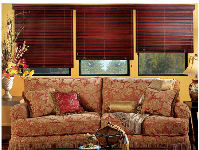 Real wood blinds in a Kitchener home