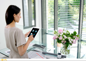 somfy motorization, operating your blinds from your ipad