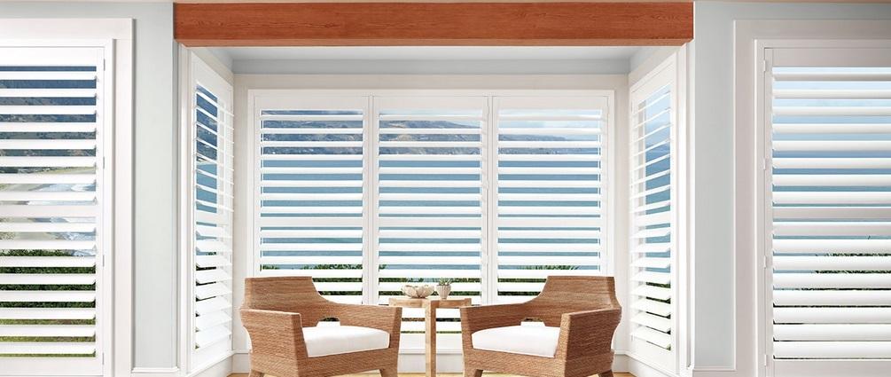 California vs plantation shutters designer 39 s guide for Vinyl vs wood exterior shutters