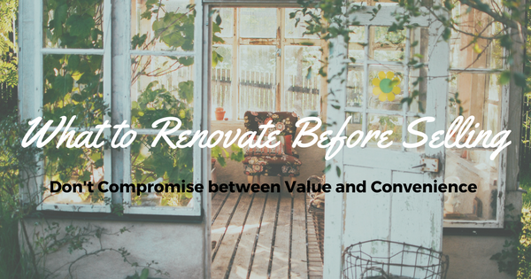 what to renovate before selling banner