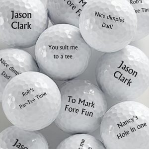 If So Hes Sure To Love These Awesome And Witty Personalized Golf Balls Choose Whatever Message You Like Or Use Some Of The Suggested Ones