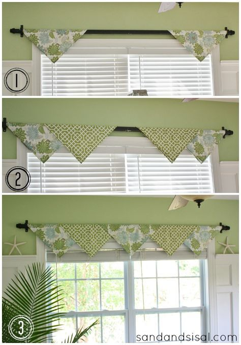 no sew curtains with organic colours